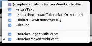 Xcode: get alphabetized methods all the time - ⑧ ericd net blog